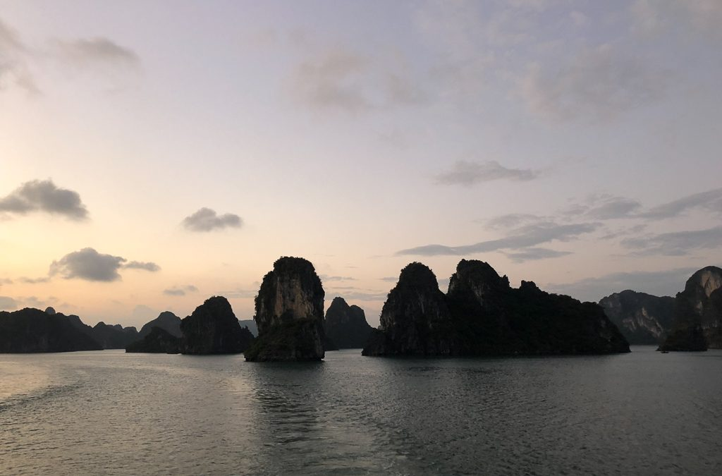Cruising in HaLong Bay (by Deb)